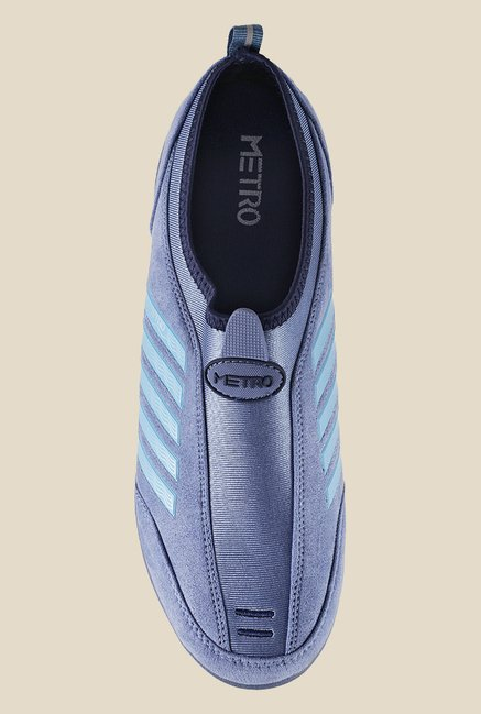 Metro Blue Slip-On Sneakers