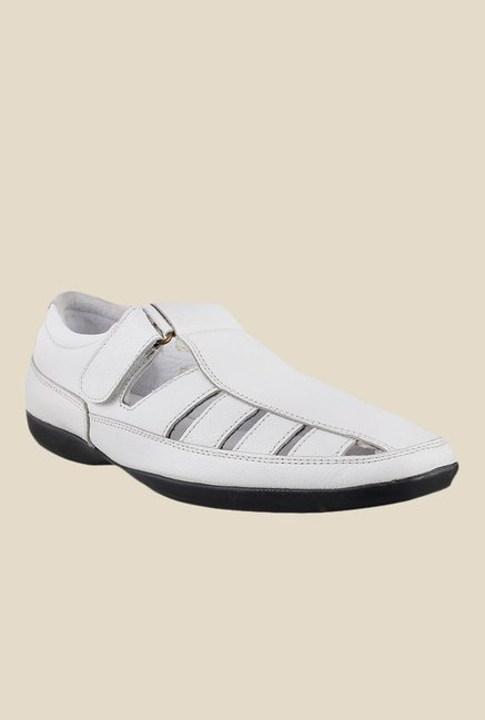 Metro White Fisherman Sandals
