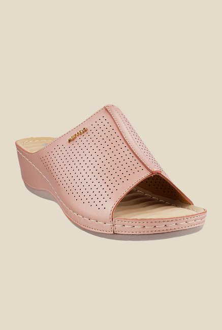 Metro Chikoo Wedge Heeled Sandals