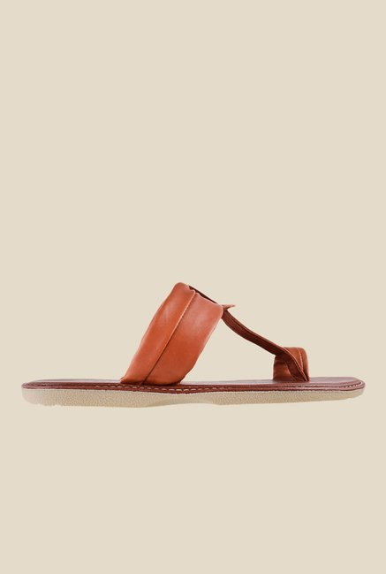 Metro Tan Toe Ring Sandals