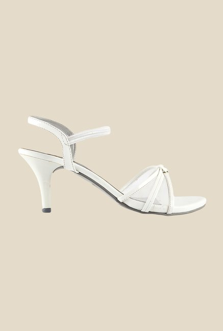 Metro White Sling Back Stilettos