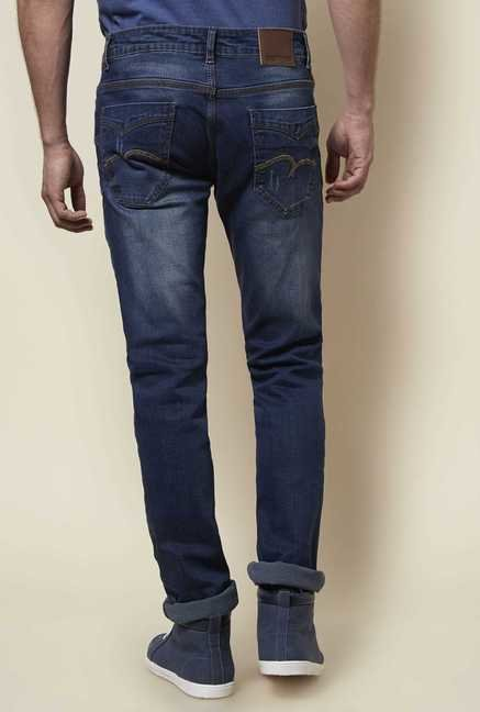Zudio Indigo Slim Fit Trap Jeans