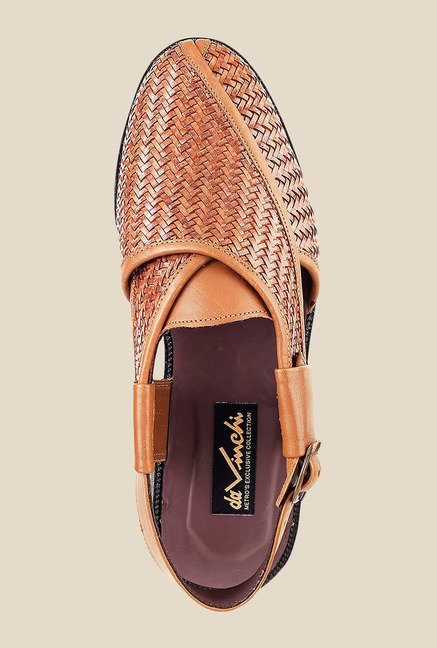Da Vinchi by Metro Tan Back Strap Sandals