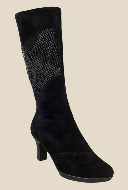 Metro Black Knee High Booties