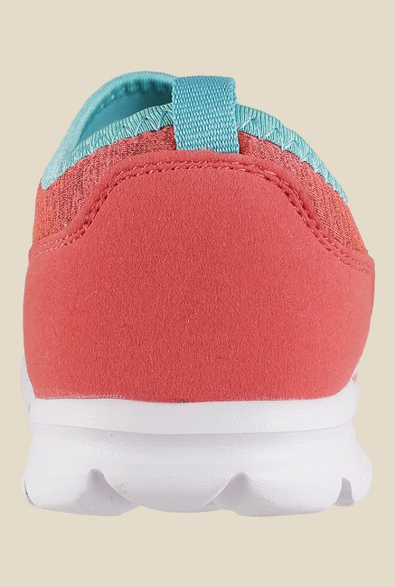 Metro Peach & Blue Slip-On Sneakers