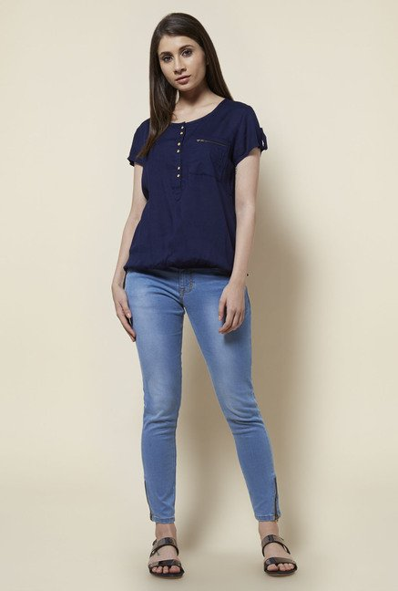Zudio Navy Lotto Blouse