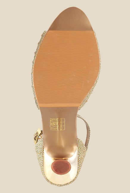 Metro Antique Gold Ankle Strap Sandals