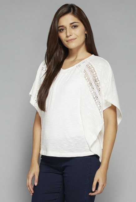 LOV by Westside White Zebina Top