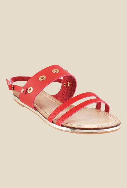Metro Red Back Strap Sandals