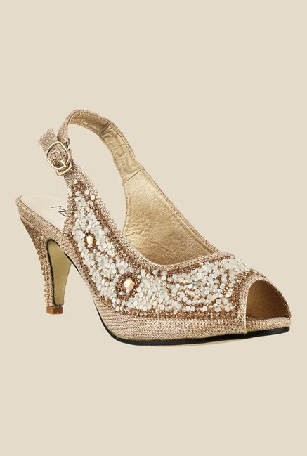 Metro Golden Back Strap Sandals