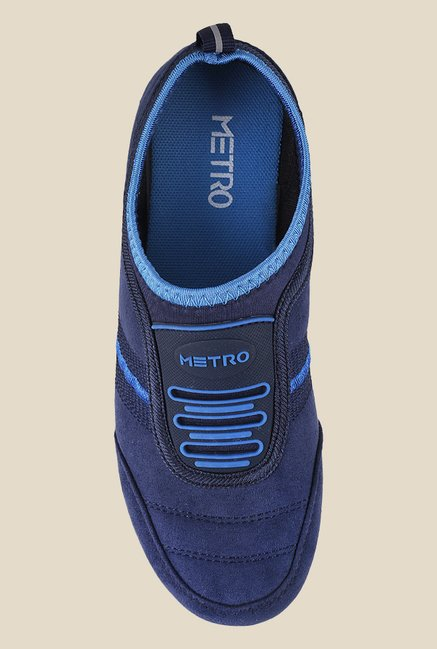 Metro Navy Slip-On Sneakers
