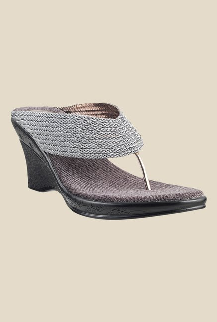 Metro Gun Metal T-Strap Wedges