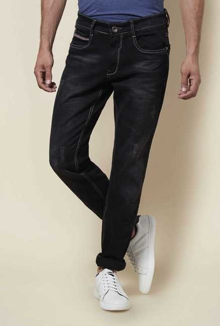 Zudio Black Slim Fit Trap Jeans