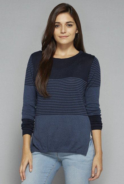 LOV by Westside Indigo Veronica Knit Top