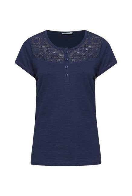 Zudio Navy Lace Top