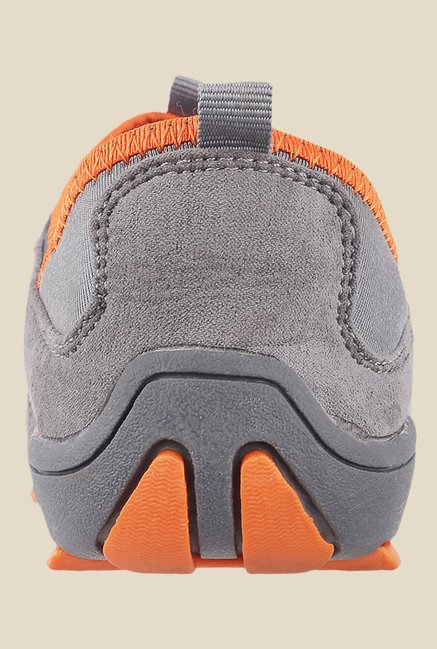 Metro Grey & Orange Slip-On Sneakers