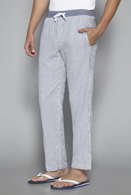 Bodybasics by Westside White Striped Pyjama