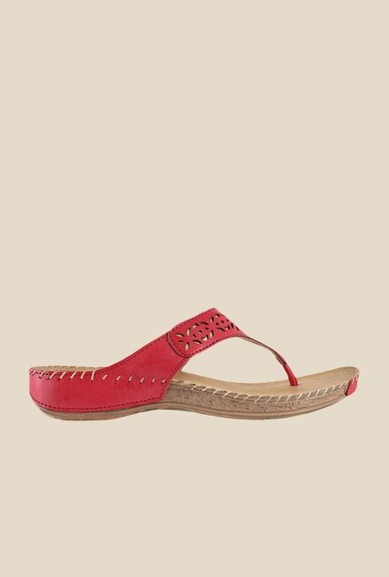 Metro Red Thong Sandals