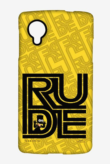 Simpsons Rude Case for LG Nexus 5