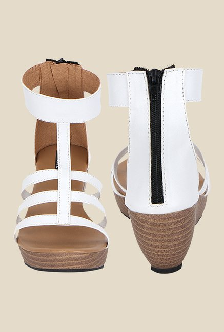 Kielz White Gladiator Sandals