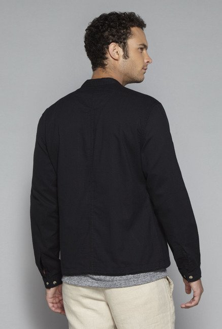 ETA by Westside Black Slim Fit Jacket