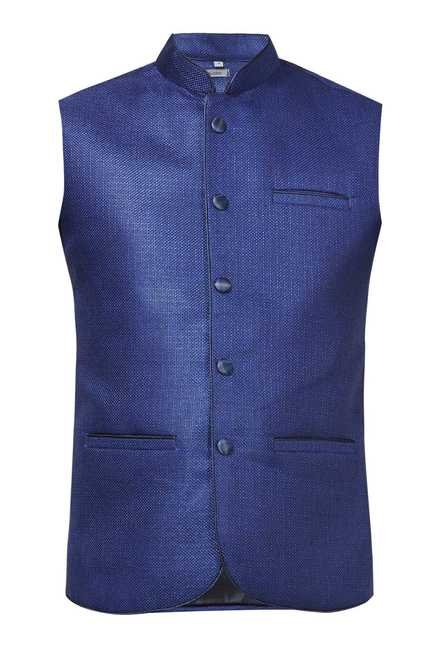 Zudio Royal Blue Vest Coat