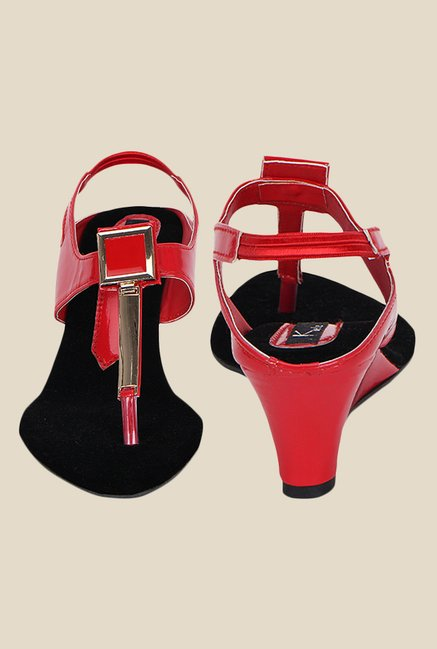 Kielz Red Sling Back Wedges
