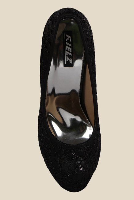 Kielz Black Stiletto Heeled Pumps