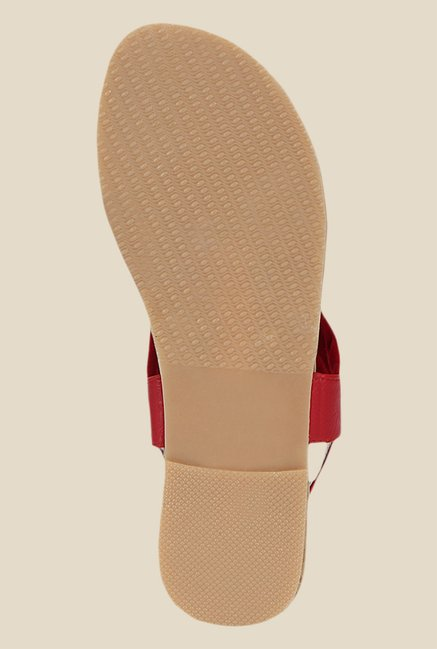 Kielz Red Sling Back Sandals