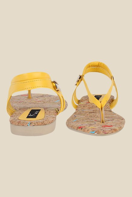 Kielz Yellow Sling Back Sandals