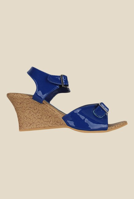 Kielz Blue Ankle Strap Wedges