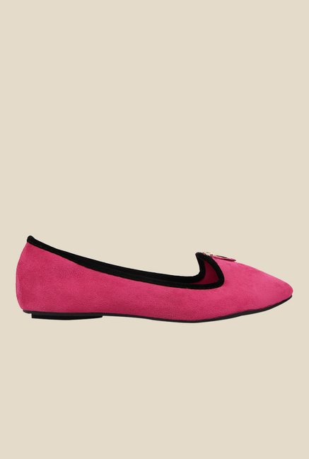 Kielz Pink & Black Loafers