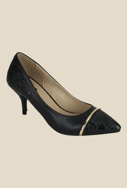Kielz Black & Golden Casual Pumps