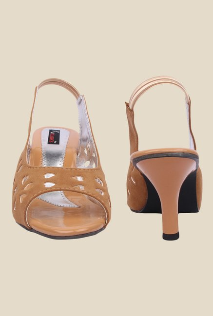 Kielz Beige Sling Back Sandals
