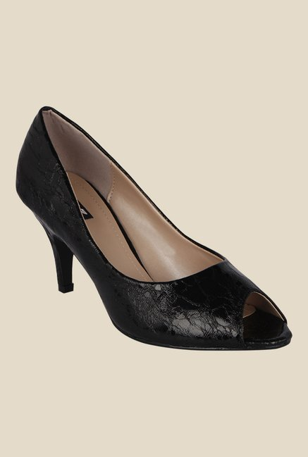 Kielz Black Peeptoe Shoes