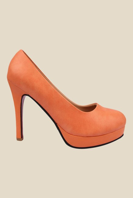 Kielz Orange Stiletto Heeled Pumps