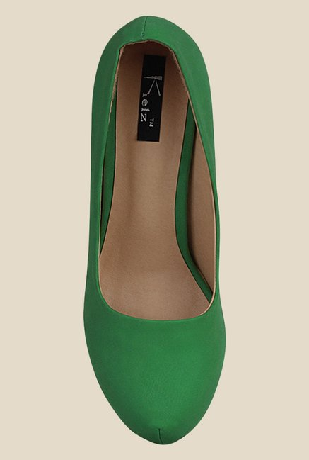 Kielz Green Stiletto Heeled Pumps