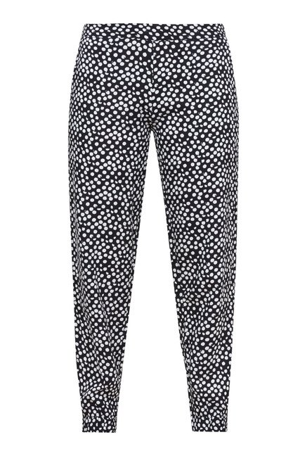 Zudio Black Printed Pant