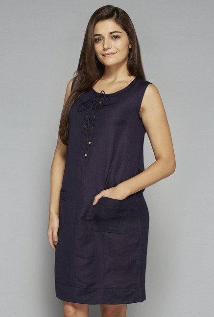 LOV by Westside Navy Spade Shift Dress