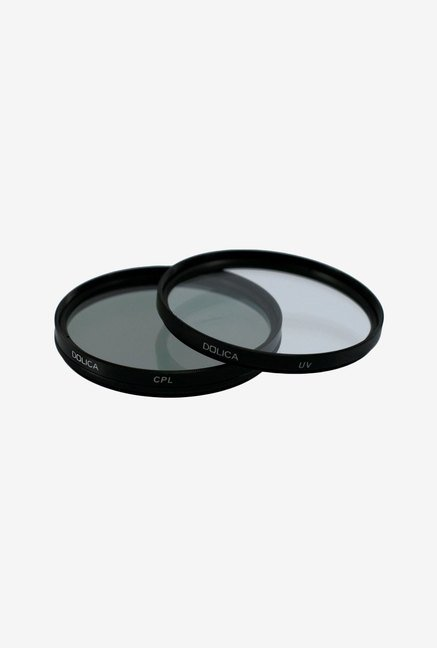Dolica CF-K77 UV and CPL Filter Kit (Black)