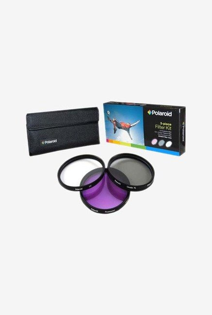 Polaroid PL-3FIL-58 58mm 3 Piece Filter Set (UV, CPL, FLD)