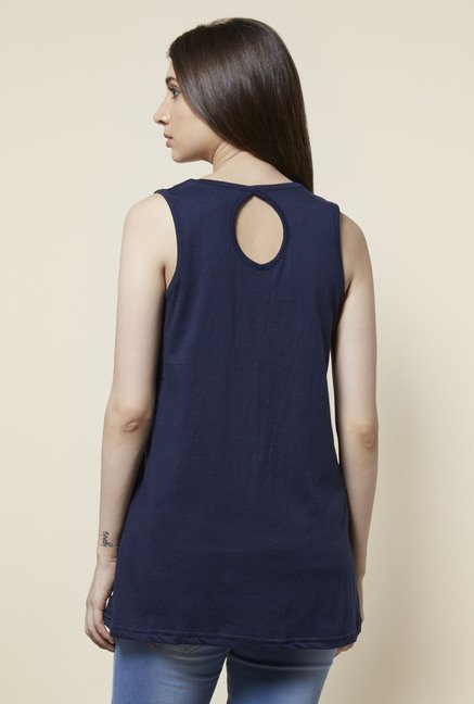 Zudio Navy Romy Relaxed Fit Tank Top