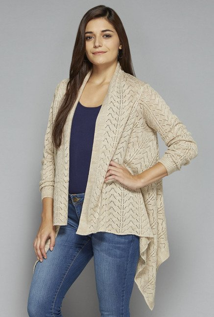 LOV by Westside Beige Zane Cardigan