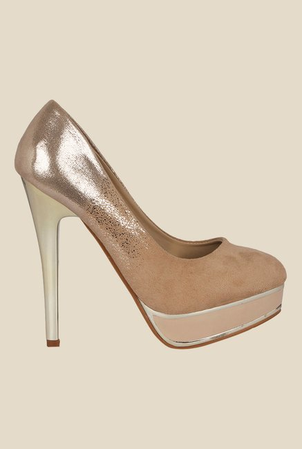 Kielz Beige Stiletto Heeled Pumps