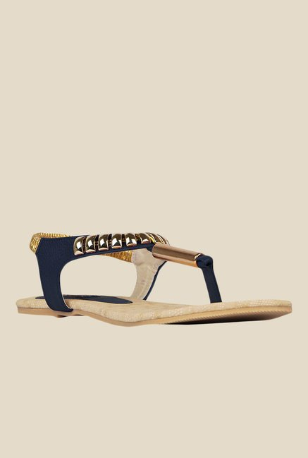 Kielz Navy & Golden Sling Back Sandals