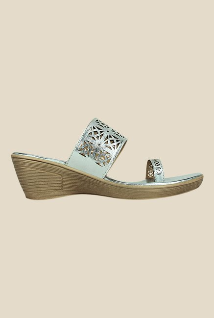 Kielz Silver Toe Ring Wedges