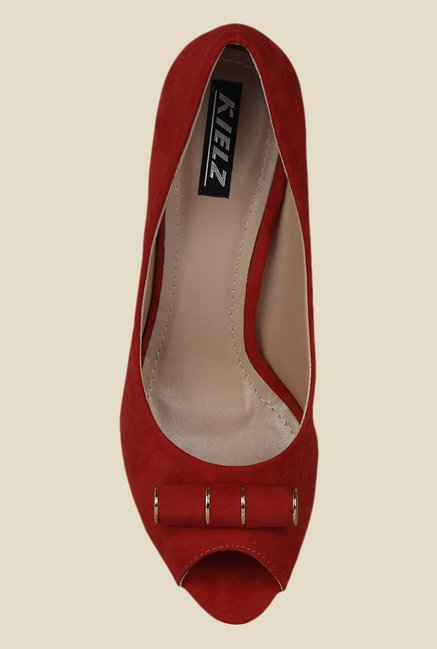 Kielz Red Peeptoe Shoes