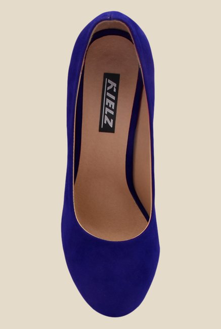 Kielz Blue Stiletto Heeled Pumps