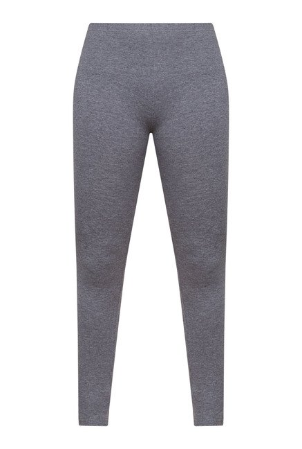 Zudio Grey Solid Leggings