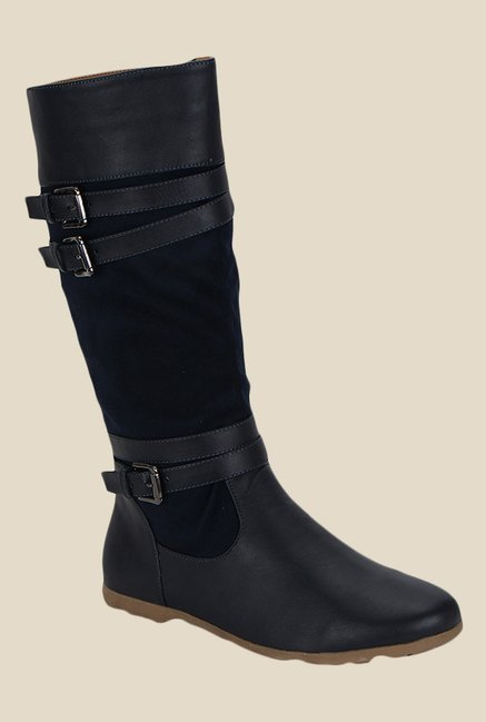 Kielz Navy & Black Flat Booties
